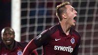 Gól! Lukáš Juliš oslavuje svoji trefu proti Krasnodaru.