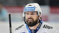 Milan Gulaš z Plzně vstřelil v utkání 13. kola hokejové extraligy dvě branky.