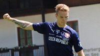 Jan Matoušek na tréninku české fotbalové reprezentace do 21 let.