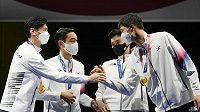 Korejští šavlisté vyhráli na OH týmovou soutěž