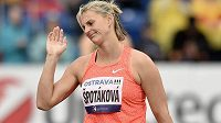 Zklamaná Barbora Špotáková během atletického mítinku Zlatá tretra.