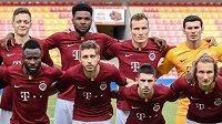 Mužstvo Sparty před úvodním utkáním 3. předkola Evropské ligy s Trabzonsporem.