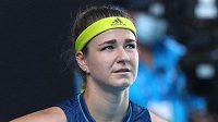 Karolína Muchová během semifinále Australian Open.