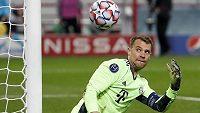 Brankář Bayernu Manuel Neuer v utkání Ligy mistrů proti Lokomotiv Moskva.