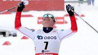 Běžkyně na lyžích Marit Björgenová vyhrála závod na 30 kilometrů v Oslu.