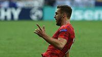 Marek Havlík se raduje z gólu proti Italům.