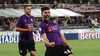 Marco Benassi z Fiorentiny se raduje z gólu proti Chievu. Ilustrační snímek.