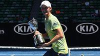 Takhle se Sebastian Korda radoval po vítězství na juniorském Australian Open