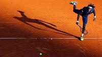 Francouzký tenista Gael Monfils na antuce v Monte Carlu.