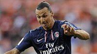 Zlatan Ibrahimovic v dresu PSG.