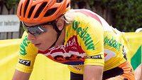 Cyklista Jan Hirt v závodě Kolem Rakouska.