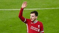 Obránce Liverpoolu Andrew Robertson.