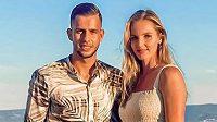 Dávid Hancko a Kristýna Plíšková během dovolené v Chorvatsku.