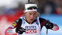 Norská biatlonistka Tiril Eckhoffová během smíšené štafety na MS v Anterselvě.