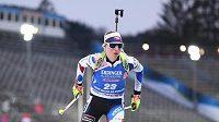 Markéta Davidová při sprintu v Novém Městě na Moravě.