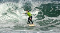 Šárka Pančochová při mistrovství republiky v surfingu.