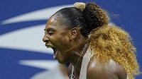 Emoce Sereny Williamsové v semifinále US Open.