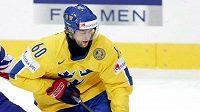 Kristian Huselius v dresu švédské hokejové reprezentace.