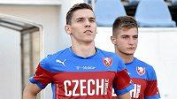 David Pavelka přichází na trénink české fotbalové reprezentace.