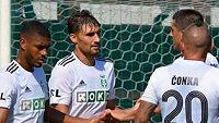 Michal Papadopulos (uprostřed) vstřelil první gól Karviné.