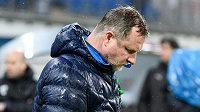 Neveselé loučení. Trenér Viktorie Plzeň Pavel Vrba po utkání 20. kola Fortuna ligy.
