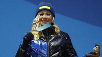 Olympijská vítězka ve slalomu z Pchjongčchangu Švédka Frida Hansdotterová