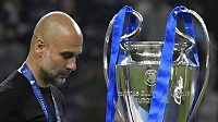 Poražený Pep Guardiola, trenér Manchesteru City.