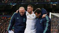 belgický fotbalista Eden Hazard si obnovil zranění kotníku. Archivní foto