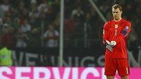 Německý brankář Manuel Neuer při utkání se Severním Irskem.