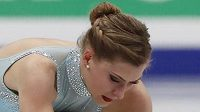 Česká krasobruslařka Eliška Březinová na mistrovství Evropy v Moskvě.