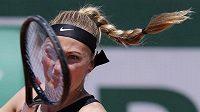 Petra Kvitová se v 1. kole French Open na postup nadřela.