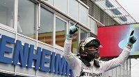Němec Nico Rosberg při loňské GP na Hockenheimringu.