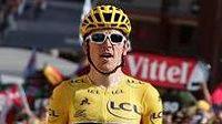 Geraint Thomas ze Sky v cíli 12. etapy Tour de France.