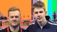 Český plavec Jakub Karl (vpravo) sbíral na mistrovství Evropy v Kodani hlavně zkušenosti.