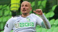 Marek Janečka (ve výskoku) vstřelil do branky Teplic třetí gól. Trefil se po dlouhých dvou letech.