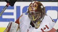 Brankář Calgary David Rittich (33) čelil v zápase proti San Jose i Tomáši Hertlovi (48).