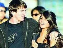 Šťastný pár,Lionel Messi a Antonella Roccuzzová.