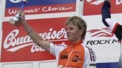 Trojice nejlepších ze závodu žen. Uprostřed vítězka Jana Severová.