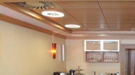 Pohled do luxusní lóže, tzv. skyboxu, v hale Sazka Arena