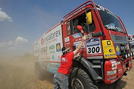 Aleš Loprais během třetí etapy Sil Way Rallye, v níž přes velké problémy vybojoval druhé místo