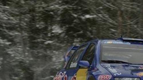 Mattias Ekström za volantem vozu Škoda Fabia WRC na trati Dan Anderssons Minne Rally.