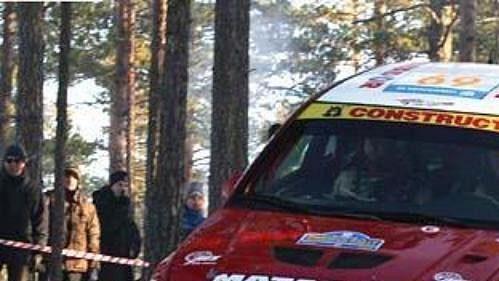 Jan Kopecký na trati Švédské rallye