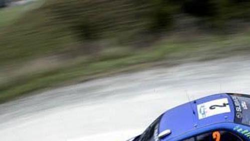 Mikko Hirvonen se subaru při shakedownu Rallye Nový Zéland.