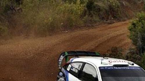 Estonec Märtin s Fordem Focus na trati Australské rallye.