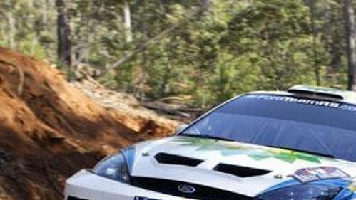 Belgičan Duval s Fordem Focus na trati Australské rallye.