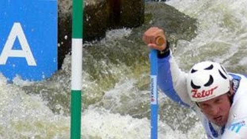 Slovák Michal Martikán si dojel na MS ve vodním slalomu v Praze-Troji pro stříbro.