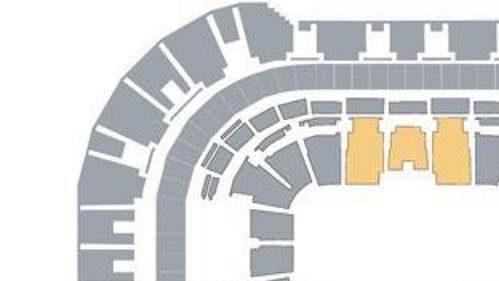 Rozmístění komfortních sedadel v hale Sazka Arena