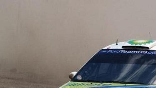Francois Duval s fordem na trati Turecké rallye.