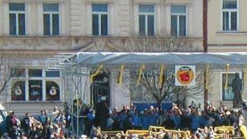 Oslavy hokejistů Zlína v centru města