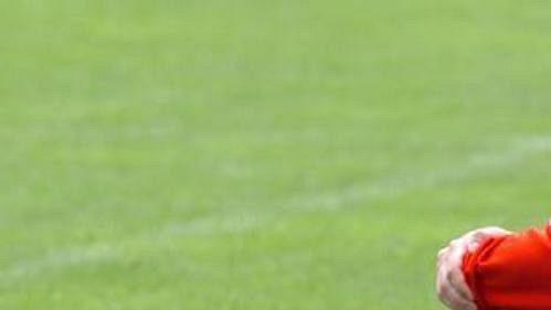 David Jarolím při tréninku české fotbalové reprezentace v Seefeldu.